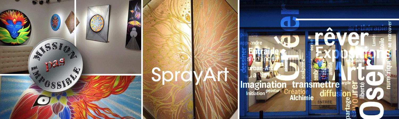 Exposition Art spray-can sur toiles posca et photos